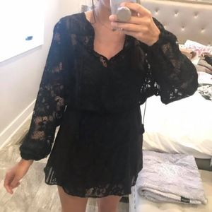 Free People black lace dress
